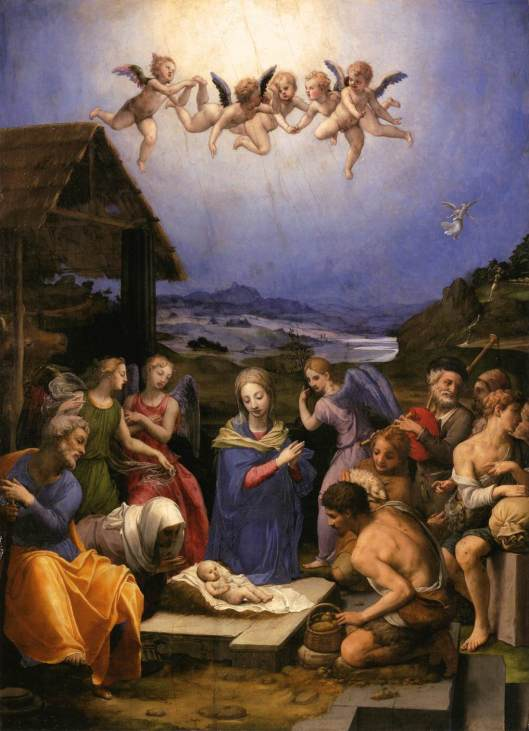 BRONZINO, Agnolo Adoration of the Shepherds 1539-40