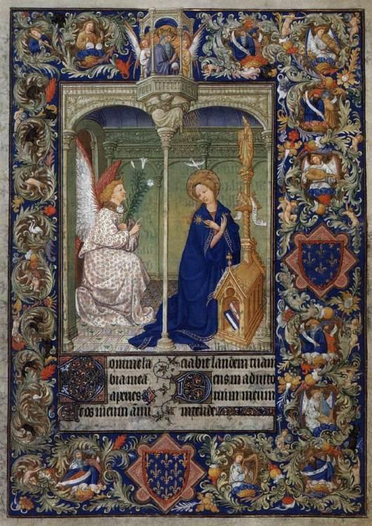 Irmãos Limbourg - Anunciação - 1410-16