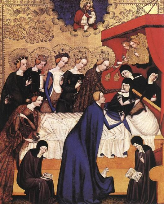 MASTER of Heiligenkreuz - A morte de Santa Clara 1410