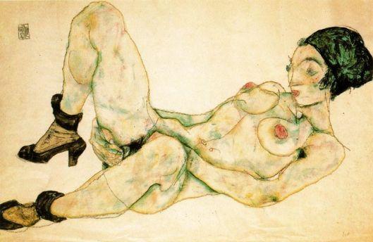 Desnudo con turbante verde