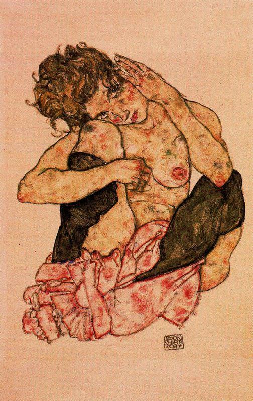 Desnudo femenino agazapado