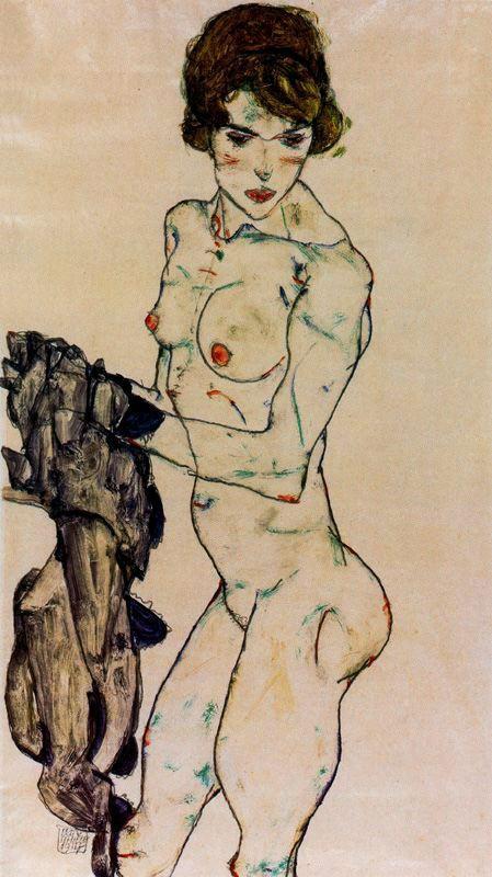 Desnudo femenino de pie