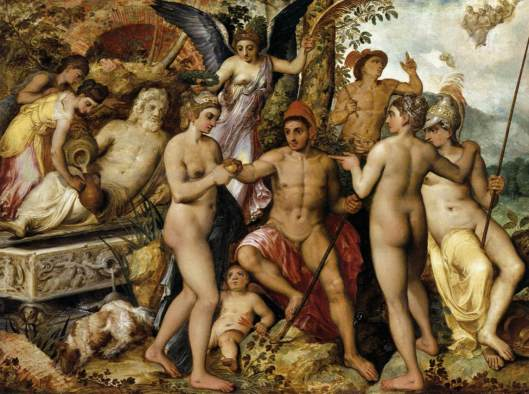 FLORIS, Frans - O julgamento de Páris 1548