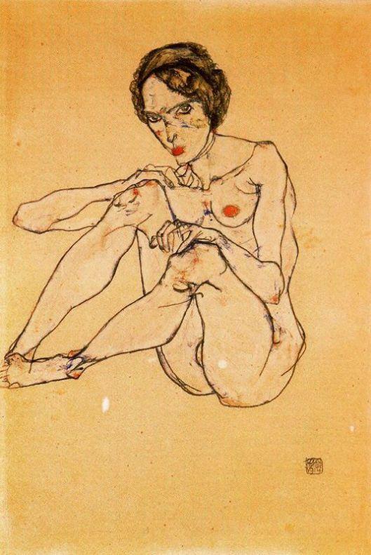 Joven vienesa desnuda