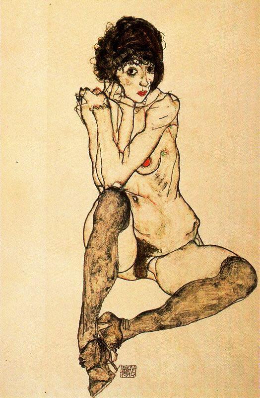 Muchacha desnuda sentada