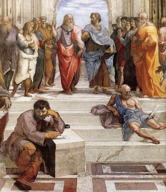 Rafael - Fresco A escola de Atenas 11