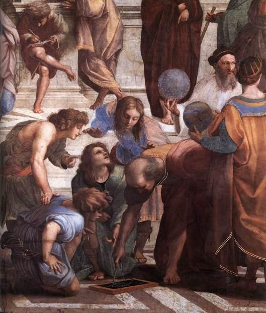 Rafael - Fresco A escola de Atenas 3
