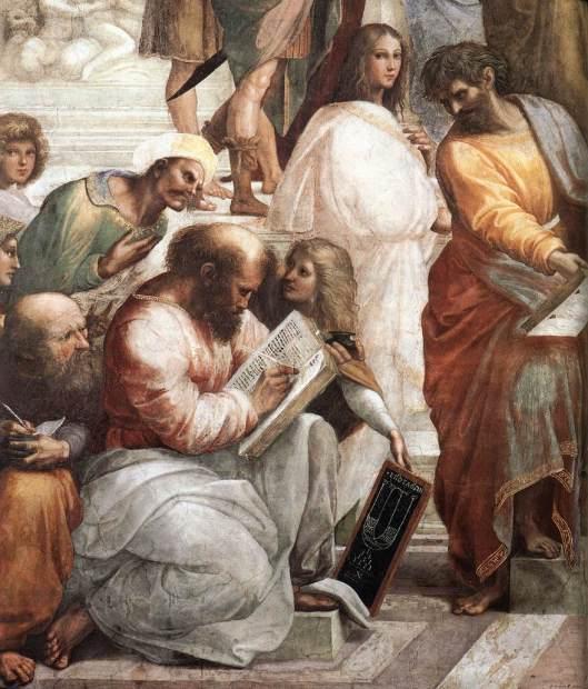 Rafael - Fresco A escola de Atenas 4