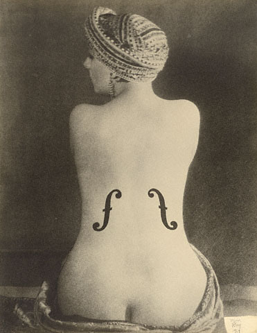 Ingres's Violin, Man Ray, 1924