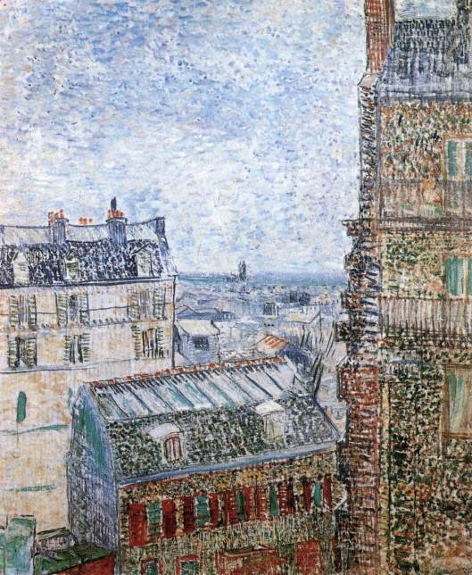 View of Paris from Vincent's Room in the Rue Lepic 1887