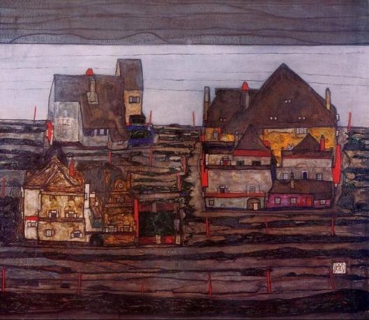 Egon Schiele - suburbios