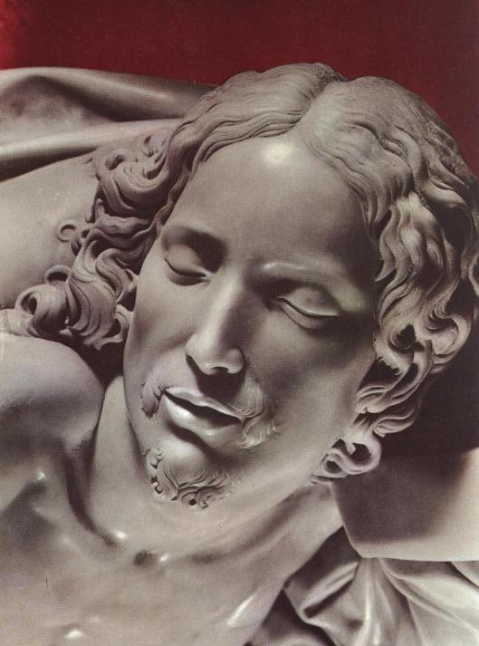 Michelangelo-Pietá do Vaticano detalhe do Cristo