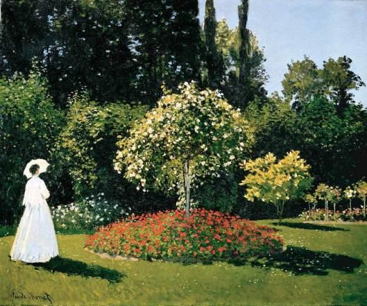 Monet - mulher no jardim 1866