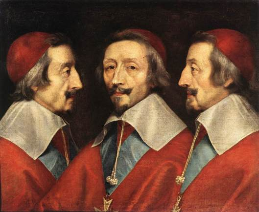 CHAMPAIGNE, Philippe de - retrato triplo de Richelieu - 1640