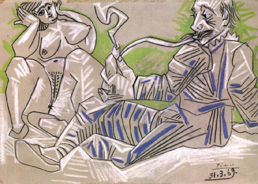Man and Nude Woman - 1969-1a
