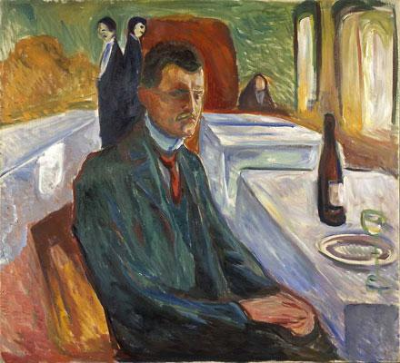 Munch_Edvard-Self-portrait_with_Bottle_of_Wine