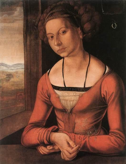 Dürer - retrato de rapariga 1497