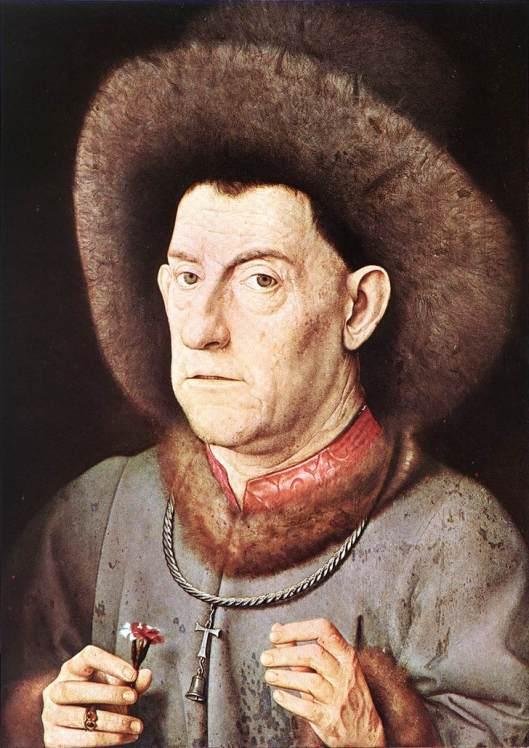 EYCK, Jan van - retrato de homem com cravo - 1435