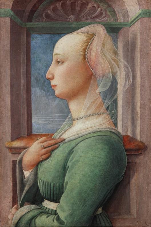 Fra Filippo Lippi -  rapariga de perfil 1440-42