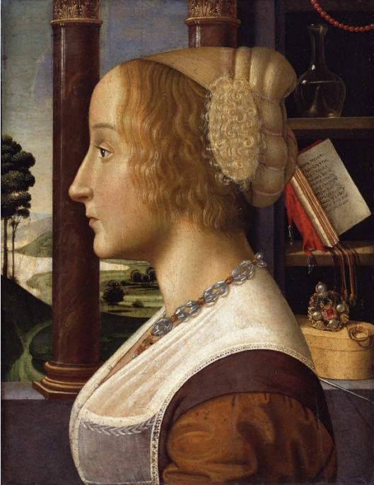 GHIRLANDAIO ou MAINARDI - retrato de rapariga 1500