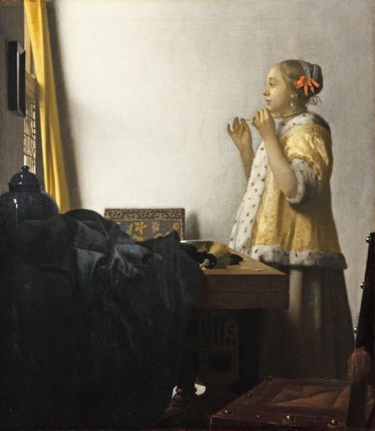 Vermeer - Mulher com colar de pérolas 1662-64