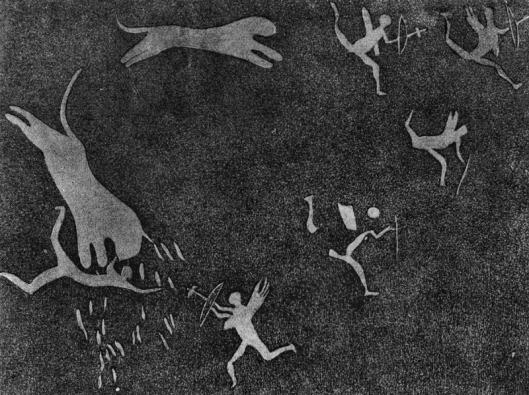 Arte rupestre em Glengyle Africa do Sul 01