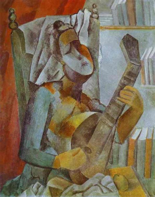 Picasso - Mulher tocando bandolim 1909