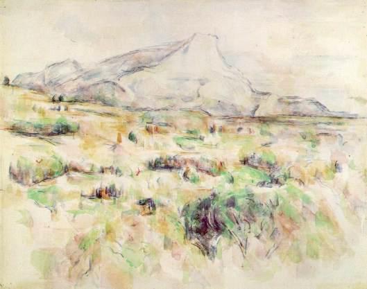 Cezanne - La Montagne Sainte-Victoire  1902 06 watercolor