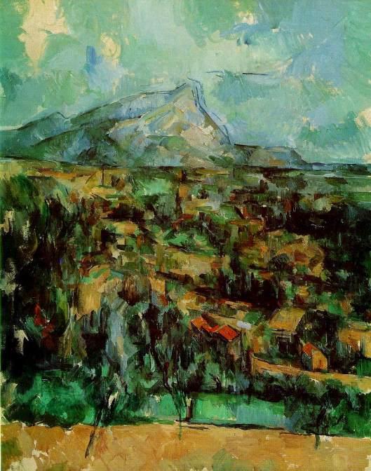Cezanne - La Montagne Sainte-Victoire  1902