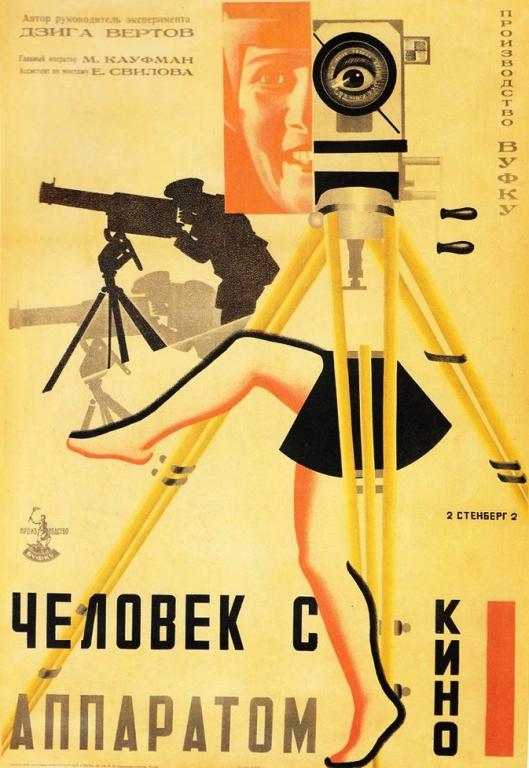 O homem da maquina de filmar 1929