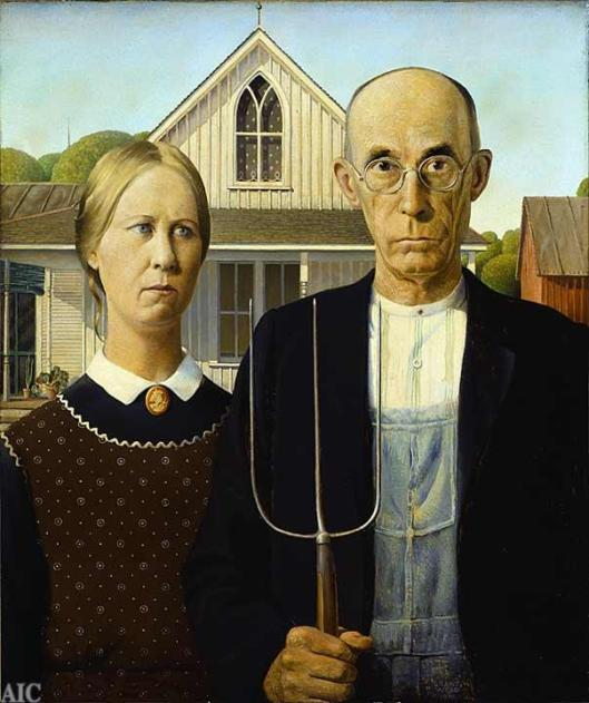 Wood, Grant-American Gothic 1930