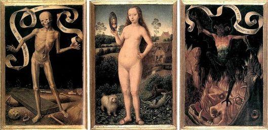 Hans Memling - Tríptico Da vaidade Terrena e da redenção Celeste