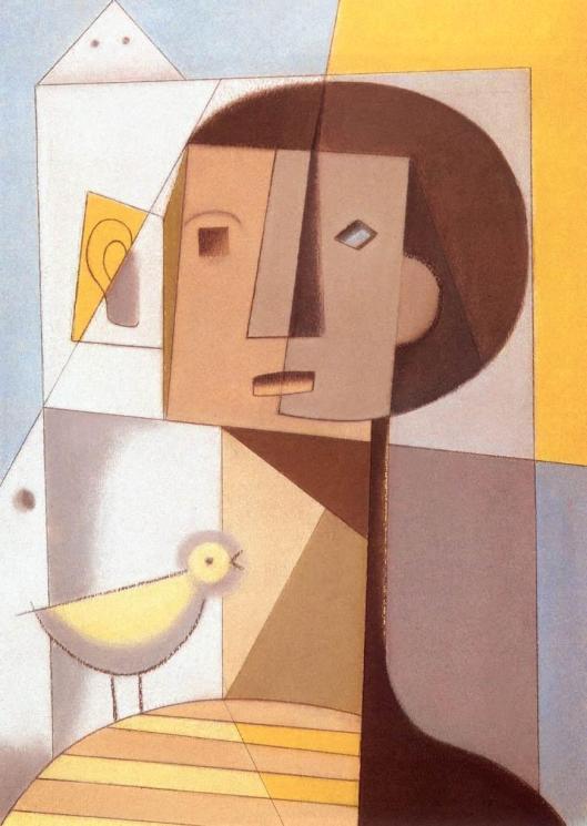 Korniss_Dezso-Boy_with_Bird_Szentendre 1934