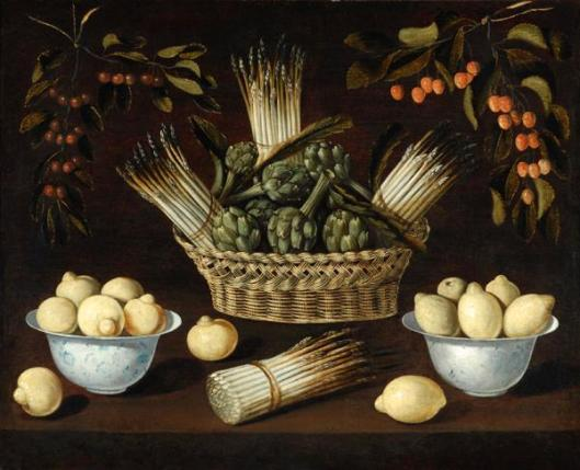 Ledesma_Blas_de-Still_Life_with_Asparagus_Artichokes_Lemons_and_Cherries