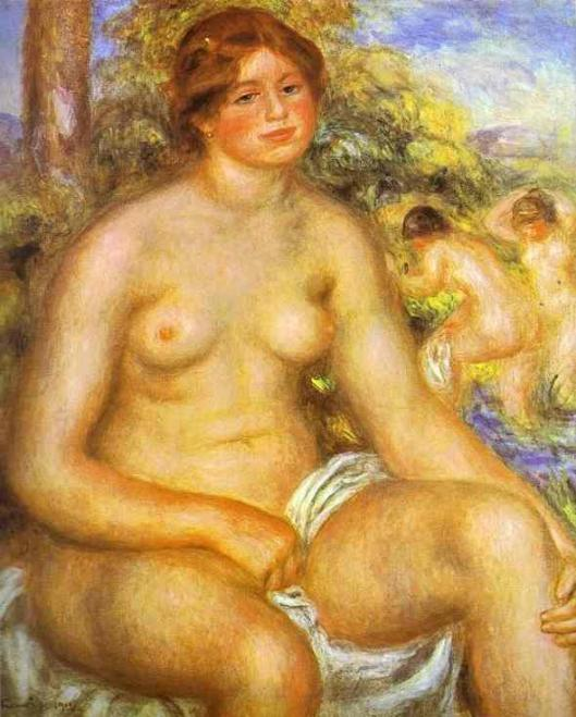 Renoir_Pierre-Auguste-Seated_Bather-1914-II