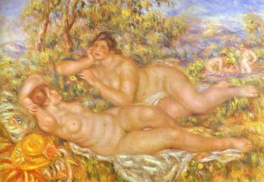 Renoir_Pierre-Auguste-The_Great_Bathers_The_Nymphs 1919