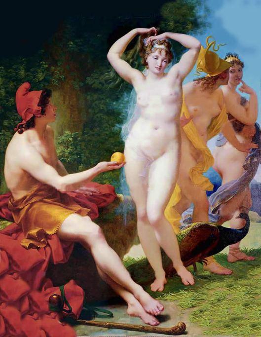 01 Jean Baptiste Regnault - O Julgamento de Páris - 1820