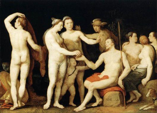4 Cornelis Cornelisz. van Haarlem -O Julgamento de Páris - 1628