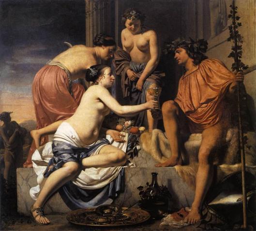 Everdingen_Caesar_van-Nymphs_Offering_the_Young_Bacchus_Wine_Fruit_and_Flowers