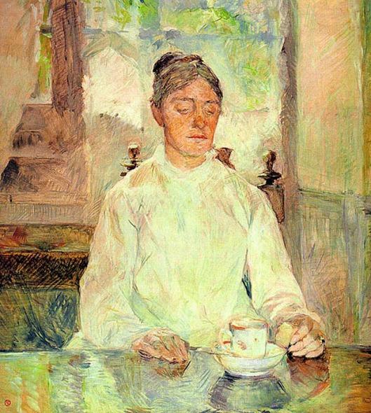 Henri de Toulouse-Lautrec - a condessa tomando o pequeno-almoço