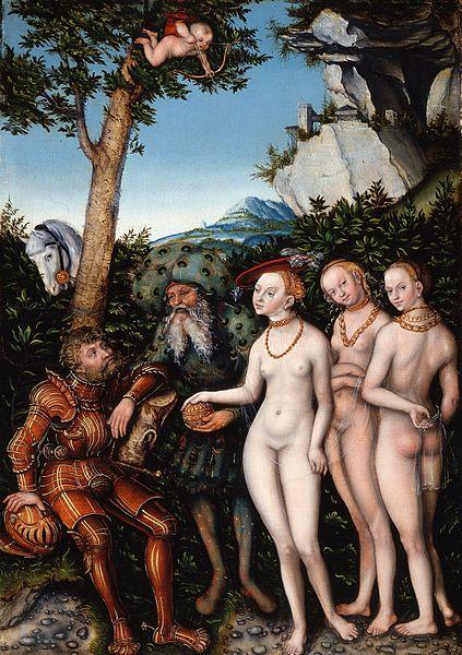 Lucas Cranach o Velho -O Julgamento de Páris - 1530