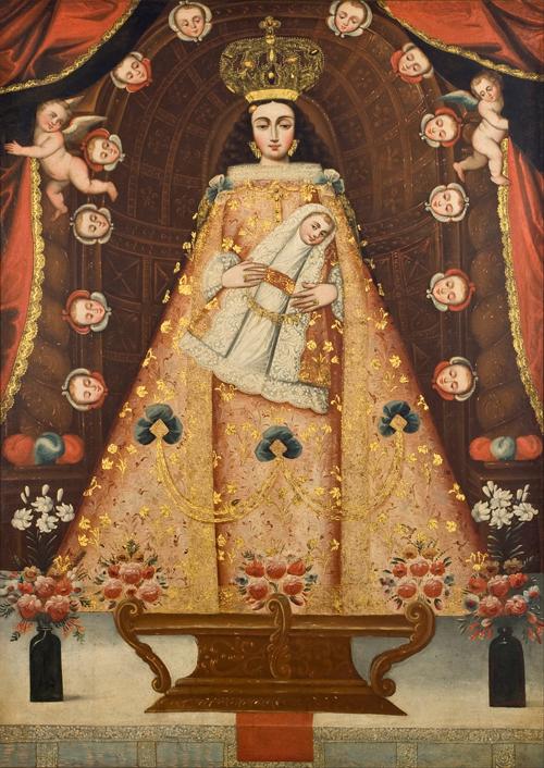 Perú Escola de Cusco - representação da Virgem sec XVII-XVIII