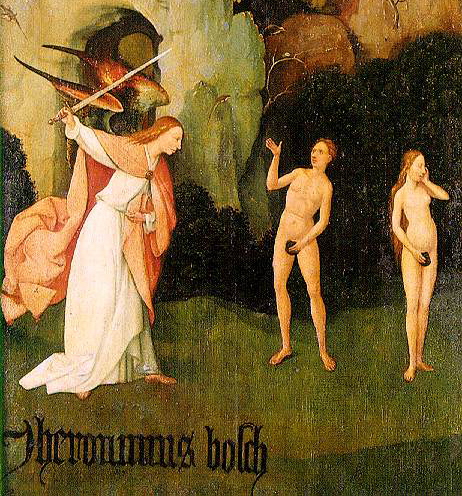 Bosch - Triptych of Haywain (left wing) -1500-02 detalhe