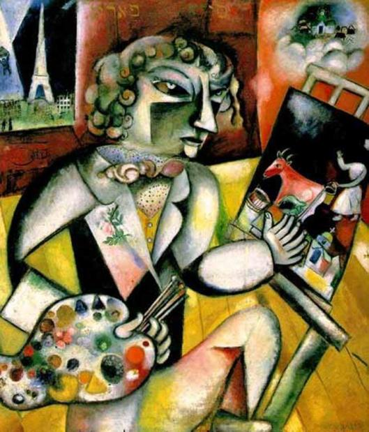 Chagall_Marc-Self-portrait_with_Seven_Fingers 1913-14
