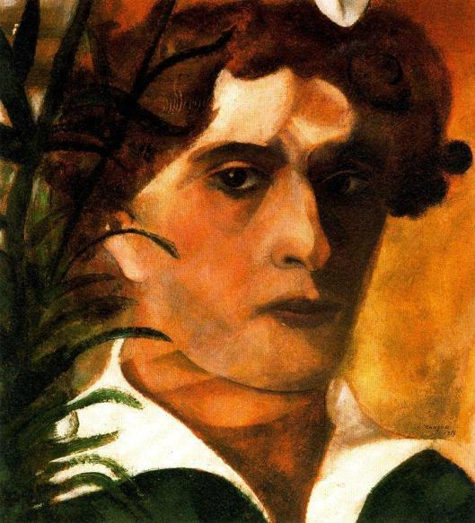 Chagall_Marc-Self-portrait_with_White_Neck 1914