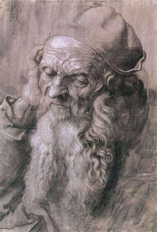 Dürer - Retrato de homem com 95 anos 1521