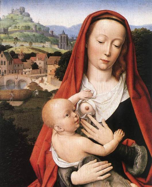 Gerard DAVID - Virgem do leite e o menino 1490