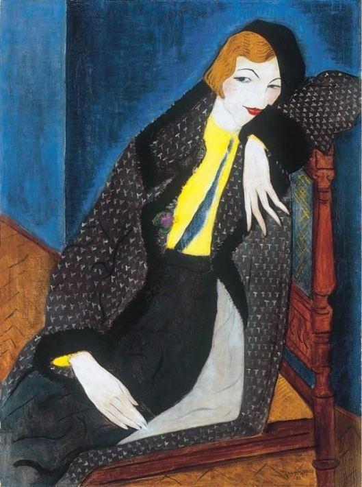 Geza Voros - Mulher com boina preta