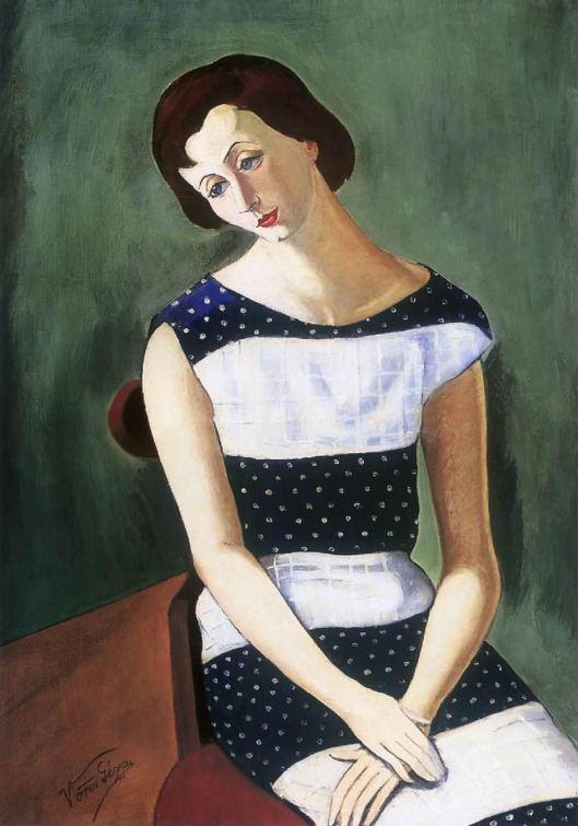 Geza Voros - Mulher sentada