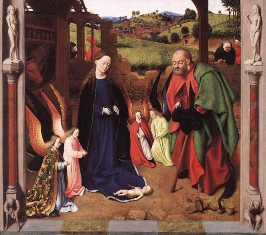 Petrus CHRISTUS - Natividade 1465 detalhe